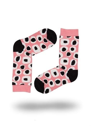John Frank John Frank WJFLSFUN19-16 Çok Renkli Yuvarlak Desenli Kadın Soket Çorap Renkli